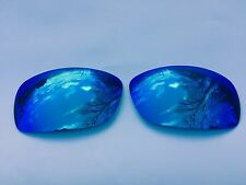 NEW ENGRAVED POLARIZED ICE BLUE MIRRORED REPLACEMENT OAKLEY HIJINX LENSES