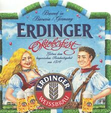 Set of 4 ERDINGER OKTOBERFEST Beer Coasters - Collectibles