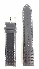 Seiko Sportura Black Leather Watch Band LOCE B21 V198 0AA0 Strap SSC361P1 SRG019
