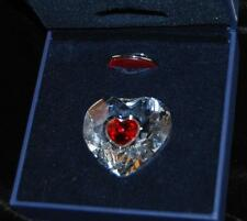 SWAROVSKI ANNUAL EDITION 2004 RED HEART ORNAMENT W/ SUNCATCHER  - #629510-MIB
