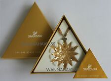 SWAROVSKI 2011 large SCS annual golden shadow snowflake ornament new in box !