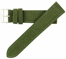 20mm MS850 Mens Olive Green Cordura Canvas Watch Band High Polished Buckle