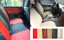 SELECT COLOR SET LEATHERETTE 100% CUSTOM FIT CAR SEAT COVERS FRONT and REAR