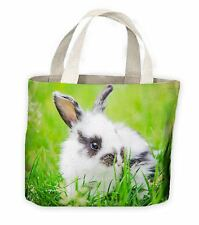 Baby Black and White Rabbit Tote Shopping Bag For Life - Cute Pet Rabbits