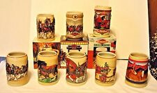 Lot of 7 Budweiser Clydesdale Steins 1987-1996 Retired