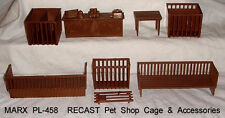 Marx reisssue Pet Shop playset  cage and accessories   D