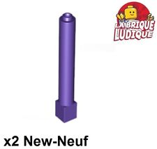 Lego - 2x Support 1x1x6 pillar poutre pillier violet/dark purple 43888 NEUF
