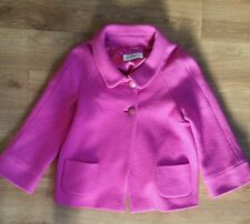 Beautiful womens wool pink coat from Weill. Size 14. Great condition 3/4 sleeves