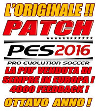 PATCH PES 2016 PS4 - OPTION FILE - DIVISE, BUNDES, SERIE B, STADI. 3500 FEEDBACK