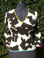 Paul Smith Woman 100% Cashmere Cow Pattern Jumper (Size M)