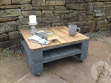 Pallet Coffee Table Shabby Chic Upcycled Industrial Reclaimed Wood Small