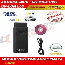 DIAGNOSTICA SPECIFICA OPEL OP-COM V1.60 SCAN TOOL USB 16 PIN AUTO OBDII 2014