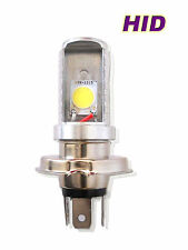 H4 HID 6000K White COB LED Hi/Lo Beam Motorcycle Headlight Bulb/Lamp