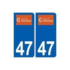 47 Castelculier logo autocollant plaque stickers ville droits