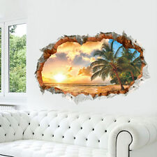 1pc Beach Sunshine Wall Sticker Decal Decor Vinyl Home Room Window Door Mural