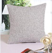 Cotton Linen Blend 18'' Square Pillow Case/Cushion Cover Simple Solid Color