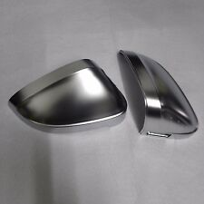for Audi A4 B9 car mirror cover electroplating alu matt silver  w side assist