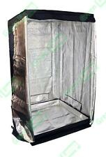 Premium 1.5m x 1.5m x 2m 600D Silver Mylar Grow Tent Box Hydroponics Dark Room