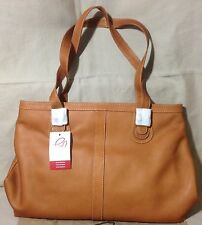 NEW Piel Leather Ladies Laptop Tote Bag Organizer Purse 2761 Tan 19 x 12 x 4