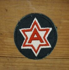 WW2 US 6TH ARMY PATCH WHITE/RED/BLACK (A2121)