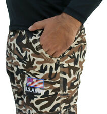 U.S Army Logo Slim Fit Men's Military Printed Cargo Pants,Track Pants -5 Pockets
