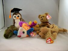 BEANIE BABY WITH TAGS  COLLECTABLE RETIRED 1990,S LOT OF 5