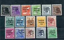 GERMANY SOVIET OCCUPATION ZONE DDR 1948 GENERAL ISSUE 10N1-10N16 PERFECT MNH