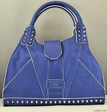 Sac à main GUESS SATCHEL des T.N.-O. Rebel stud Mesdames BLUBERRY sac