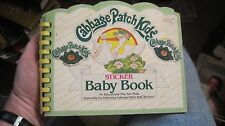 1983 Cabbage Patch Kids Sticker Baby Book.  Used.