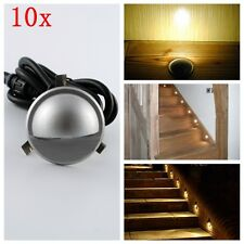 Kit of 10 LED Deck Stair Lights 35mm Warm IP65 Waterproof Garden Courtesy Lamp