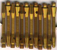1.75in. 2ba Gold Aluminum Dart Shafts: 3 per set