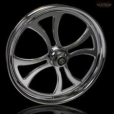 "Harley Davidson Street Glide 18"" Inch Chrome Front Wheel Custom Harley Wheels"