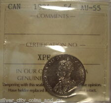 Canada George V 1934 Five Cents - ICCS AU-55