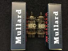 2 NOS Matched Mullard 12AX7A ECC83 Audio Tubes GT. Britain