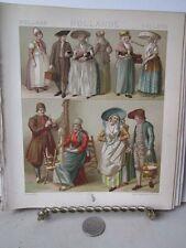 Vintage Print,DUTCH COSTUME,1800,Costumes Historiques,Chromo