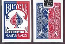 2 DECKS Bicycle Super Gaff V2 (blue & red) playing cards FREE USA SHIPPING!