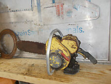 """Vintage Clinton D-2 Chainsaw 15"""" Bar Classic """"Has Spark"""" Project Saw #BL-ZF3A"""
