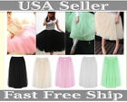 Women Teen Petticoat Ballerina Ballet Dancer Tulle Long Tutu Skirt Dance wear