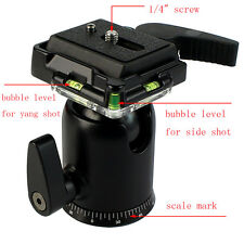 Tripod Panoramic Ball Head with Quick Release Plate for DSLR Canon Nikon Camera