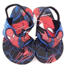 Marvel The Amazing Spider-Man Boy's Toddler Slippers With Heel Support 7/8 M NWT