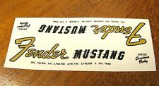 2 Fender Mustang Headstock Waterslide Decal 64-65 Vintage Guitar Bass