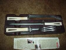 Vintage CUISINE de FRANCE 3 piece Steak Knife Set Bakelite ?
