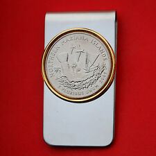 2009 Northern Mariana Islands Quarter Uncirculated Coin Two Toned Money Clip New