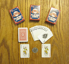 3 NEW DECKS OF MINI PLAYING CARDS MINITURE PLASTIC COATED TINY POKER CARD DECK