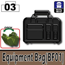 Equipment Bag (W72) Tactical Combat Case compatible w/toy brick minifigures Army