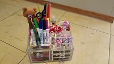 Clear Makeup 4 Case Drawers Cosmetic Organizer Jewelry Storage Acrylic Clear Box