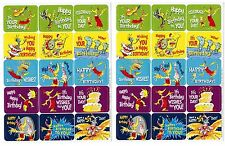 Dr Seuss Happy Birthday to You 2 Sheets Stickers!
