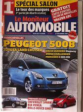 Le moniteur Automobile 23/12/2009; Spécial Salon/ Peugeot 5008/ Dacia Sandero