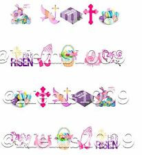 Easter Nail decals (water decals) Religious nail art!