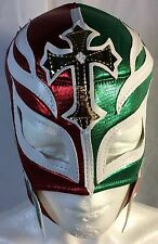 "REY MISTERIO ""MEXICO"" LUCHADOR MASK! MEXICAN FLAG COLORS!! GREAT HANDMADE MASK!!"